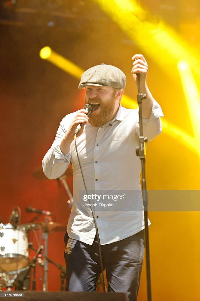 Alex Clare performs on stage on Day 3 of Reading Festival 2013 at Richfield Avenue on August 25 2013 in Reading England