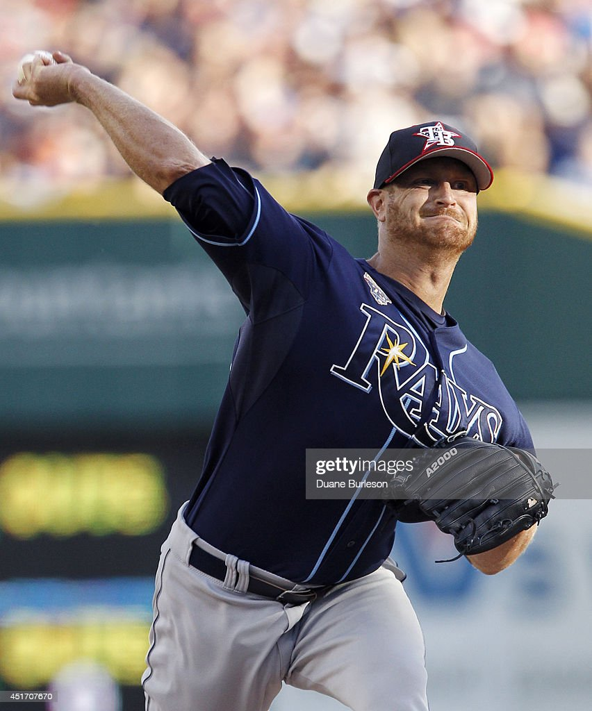 Alex Cobb #53 of the Tampa Bay Rays pitches against the Detroit Tigers during the first inning at Comerica Park on July 4, 2014 in Detroit, Michigan.
