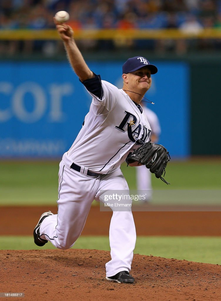 <a gi-track='captionPersonalityLinkClicked' href=/galleries/search?phrase=Alex+Cobb&family=editorial&specificpeople=7512114 ng-click='$event.stopPropagation()'>Alex Cobb</a> #53 of the Tampa Bay Rays pitches during a game against the Baltimore Orioles at Tropicana Field on September 21, 2013 in St Petersburg, Florida.