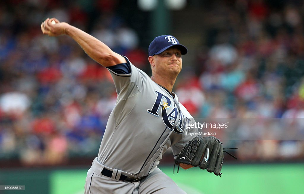 <a gi-track='captionPersonalityLinkClicked' href=/galleries/search?phrase=Alex+Cobb&family=editorial&specificpeople=7512114 ng-click='$event.stopPropagation()'>Alex Cobb</a> #53 of the Tampa Bay Rays pitches to the Texas Rangers on August 29, 2012 at the Rangers Ballpark in Arlington in Arlington, Texas.
