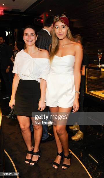 Alex Conibear and Jessica Andarita appear during the cocktail reception at Vagu on December 7 2017 in Miami Florida