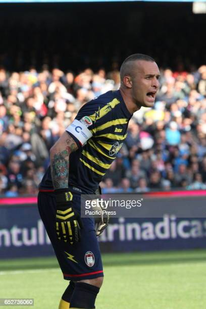 Alex Cordaz goalkeeper during soccer match between SSC Napoli and Crotone at San Paolo Stadium in Napoli Final result Napoli vs Crotone 30