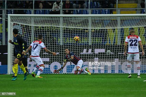 Alex Cordaz keeper of Crotone in actions during Inter versus Crotone Inter Milan win over Crotone final score 30