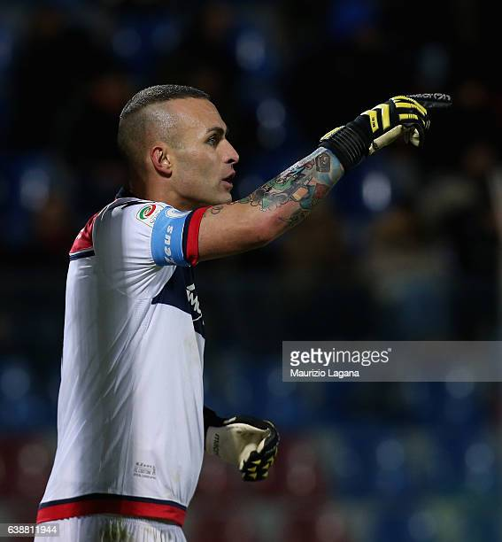 Alex Cordaz of Crotone during the Serie A match between FC Crotone and Bologna FC at Stadio Comunale Ezio Scida on January 14 2017 in Crotone Italy