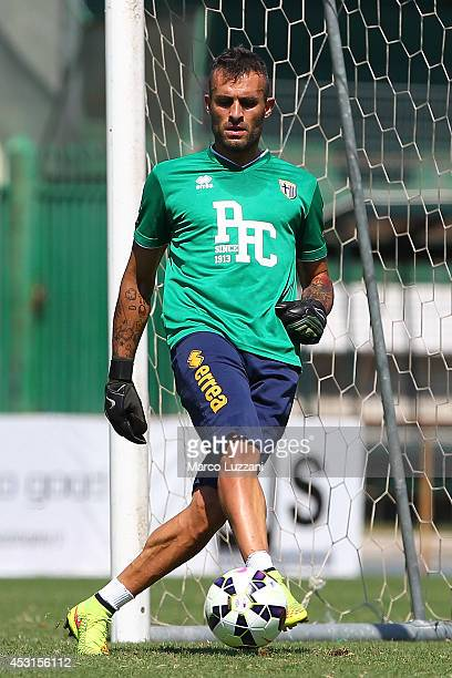 Alex Cordaz of Parma FC in action during an FC Parma Training Session on August 4 2014 in Avellino Italy