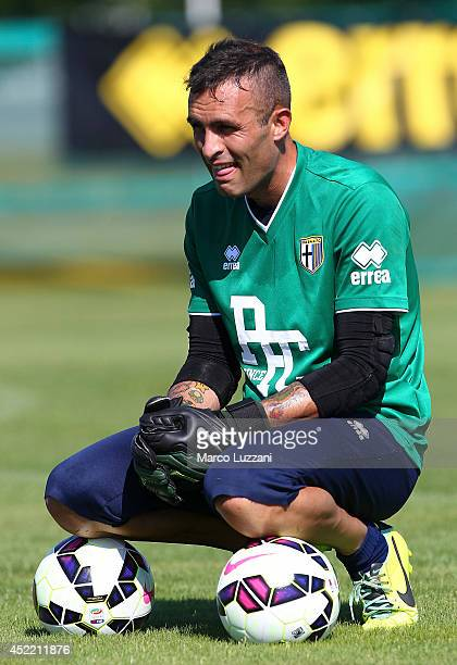 Alex Cordaz of Parma looks on during FC Parma Training Session at the club's training ground on July 16 2014 in Collecchio Italy