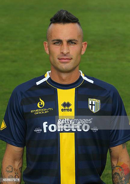 Alex Cordaz poses during the official Parma FC portrait session at the club's training ground on August 21 2014 in Collecchio Italy