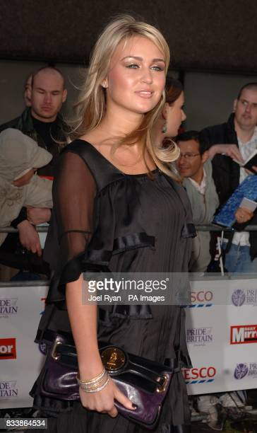 Alex Curran arrives for the Pride of Britain Awards 2007 The London Studios Upper Ground London SE1