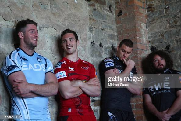 Alex Cuthbert of Cardiff BluesGeorge North of ScarletsIan Evans and Adam Jones of Ospreys amongst the fifteen Welsh players selected for the British...