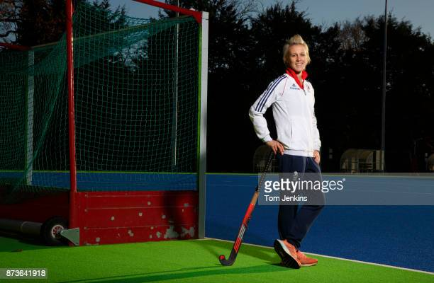 Alex Danson who was part of the Great Britain womens hockey team that won Olympic gold in Rio poses for a portrait at the national training centre at...