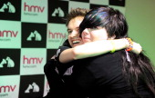Alex Day meets fans and signs copies of new single 'Lady Godiva' at HMV on April 3 2012 in Manchester England