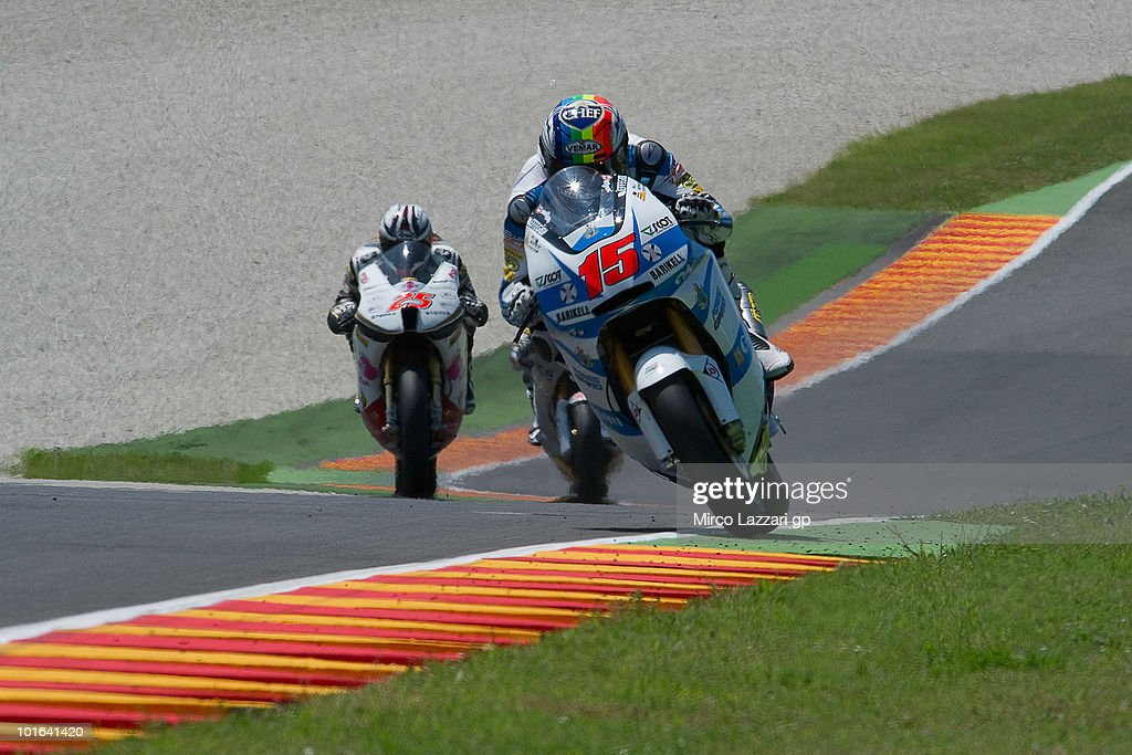Alex De Angelis of San Marino and Scot Racing Team lieds the fields during the qualifying practice of the Grand Prix of Italy on June 5, 2010 in Mugello Circuit near Florence, Italy.