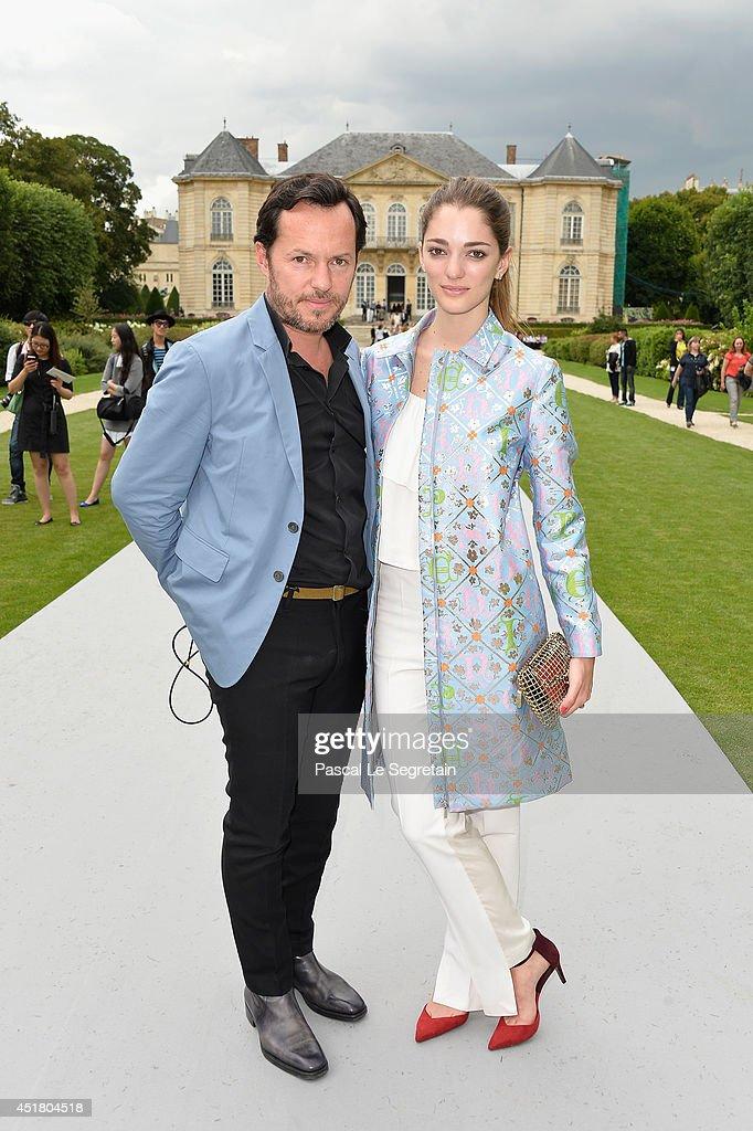 Alex de Betak and Sofia Sanchez Barrenechea attend the Christian Dior show as part of Paris Fashion Week - Haute Couture Fall/Winter 2014-2015 on July 7, 2014 in Paris, France.