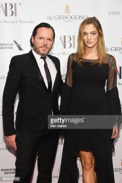 Alex de Betak and Sofia Sanchez de Betak attend the American Ballet Theatre Fall Gala at David H Koch Theater at Lincoln Center on October 18 2017 in...