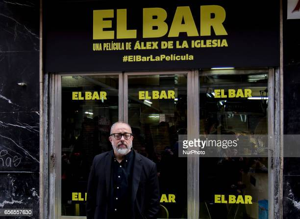 Alex de la Iglesia attends 'El Bar' Photocall at Paletinos bar on March 22 2017 in Madrid Spain