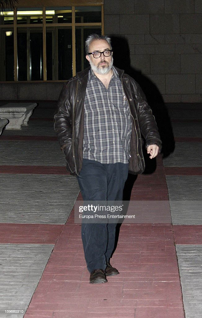 Alex de la Iglesia attends the funeral chapel for actor Fernando Guillen at Tres Cantos Chapel on January 17, 2013 in Madrid, Spain.