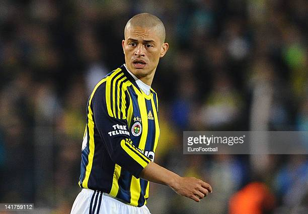 Alex de Souza of Fenerbahce SK in action during the Turkish Spor Toto Super Lig match between Fenerbahce SK and Galatasaray AS held on March 17 2012...