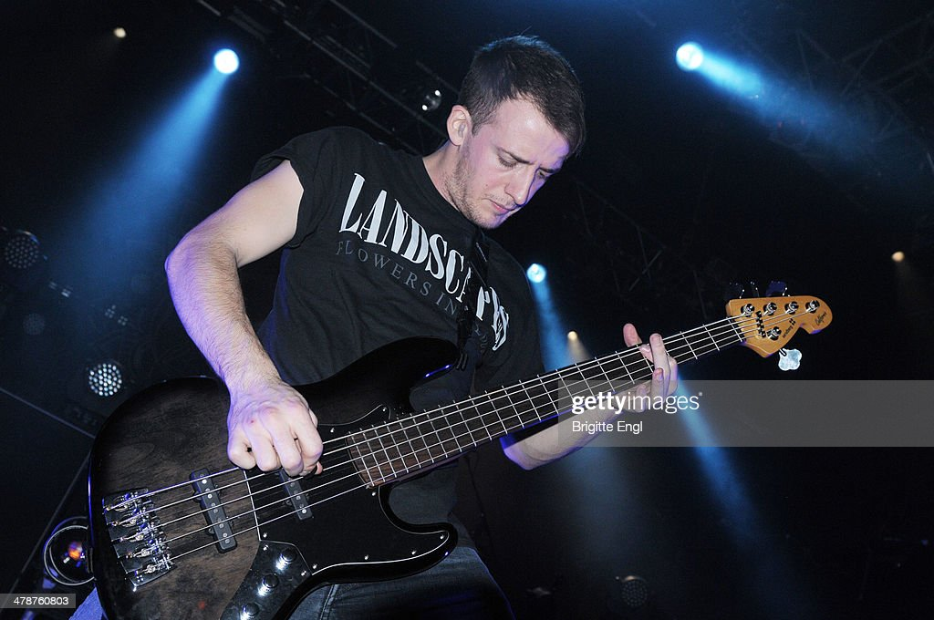 Alex Dean of Architects performs on stage at KOKO on March 14, 2014 in London, United Kingdom.