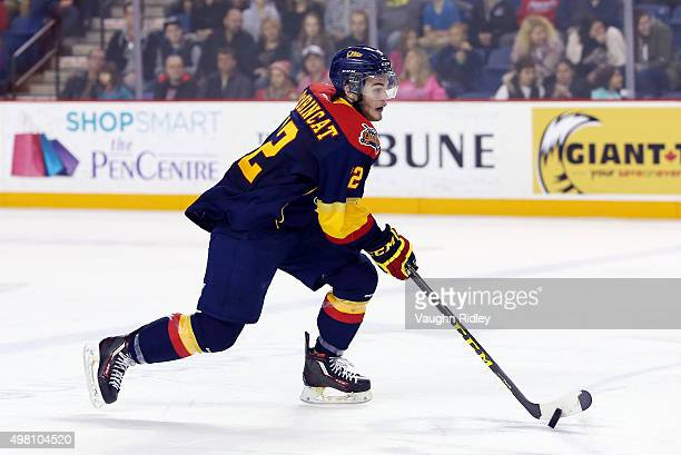 Alex DeBrincat of the Erie Otters skates during an OHL game against the Niagara IceDogs at the Meridian Centre on November 19 2015 in St Catharines...