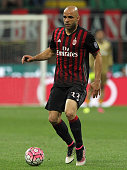 Alex Dias da Costa of AC Milan in action during the Serie A match between AC Milan and AS Roma at Stadio Giuseppe Meazza on May 14 2016 in Milan Italy