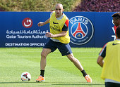 Alex Dias Da Costa of PSG in action during day 3 of the Paris SaintGermain Training Camp the Qatar Winter Tour held at the Aspire Academy for Sports...