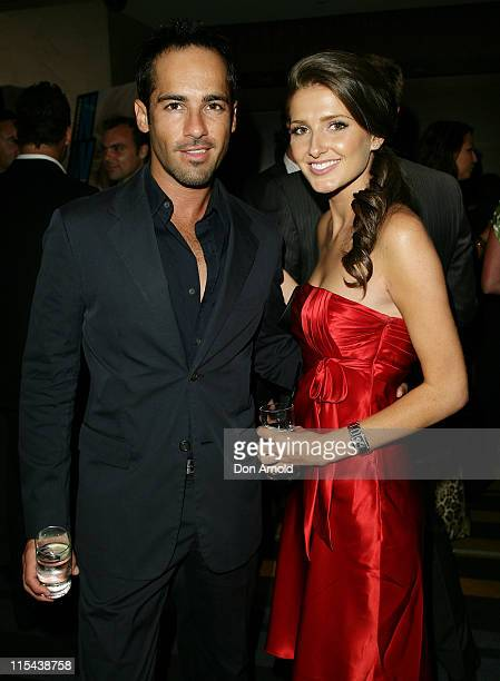 Alex Dimitriades and Kate Waterhouse attend the NW party to celebrate the 80th Annual Academy Awards in The Hilton Grand Ballroom on February 25 2008...