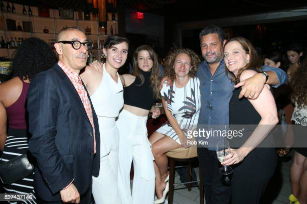 Alex Dinelaris and guests attend the OffBroadway opening night party for 'SUMMER SHORTS 2017' at Fogo de Chao Churrascaria on August 7 2017 in New...
