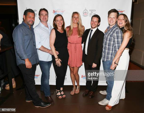 Alex Dinelaris Ted Koch Orlagh Cassidy Krysta Hibbard Graham Moore Sam Lilja and Bronte EnglandNelson attend the OffBroadway opening night party for...