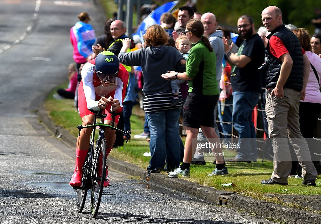 <a gi-track='captionPersonalityLinkClicked' href=/galleries/search?phrase=Alex+Dowsett&family=editorial&specificpeople=5537739 ng-click='$event.stopPropagation()'>Alex Dowsett</a> of England competes in the Men's Individual Time Trial during day eight of the Glasgow 2014 Commonwealth Games on July 31, 2014 in Glasgow, Scotland.