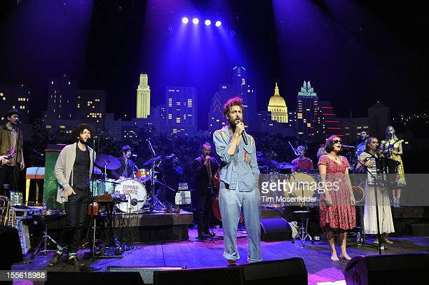Alex Ebert and Edward Sharpe and the Magnetic Zeroes perform during the bands' Austin City Limits taping at the Moody Theater on November 5 2012 in...