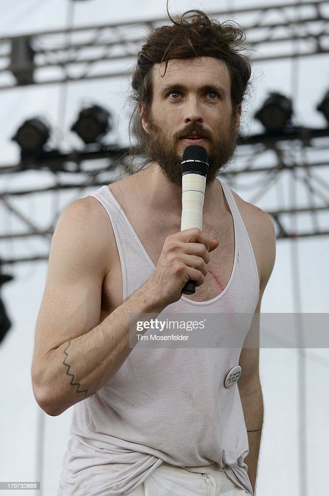 Alex Ebert of Edward Sharpe and the Magnetic Zeroes performs as part of Day 4 of the Bonnaroo Music And Arts Festival on June 16, 2013 in Manchester, Tennessee.