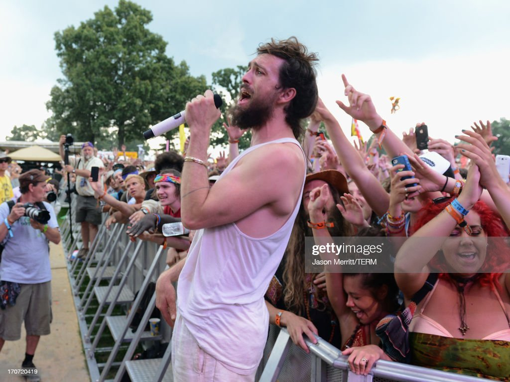 <a gi-track='captionPersonalityLinkClicked' href=/galleries/search?phrase=Alex+Ebert&family=editorial&specificpeople=2544755 ng-click='$event.stopPropagation()'>Alex Ebert</a> of Edward Sharpe and The Magnetic Zeros performs onstage during day 4 of the 2013 Bonnaroo Music & Arts Festival on June 16, 2013 in Manchester, Tennessee.