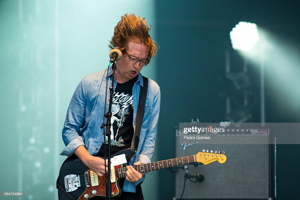 Alex Edkins of Metz performing on Vodafone stage at Rock in Rio on May 27, 2016 in Lisbon, Portugal.