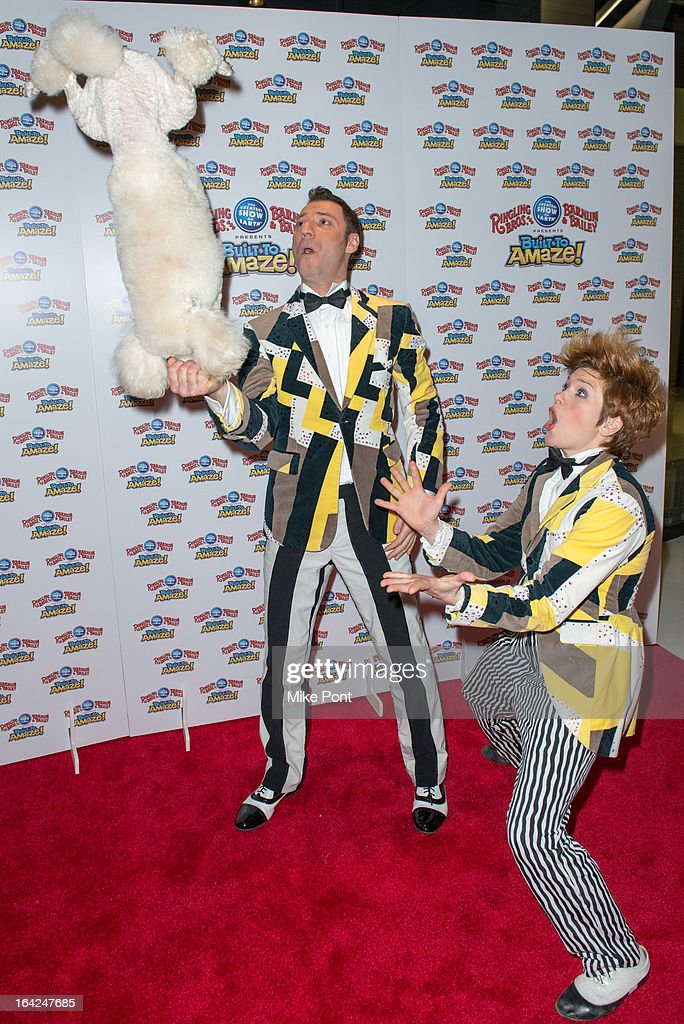 Alex Emelin and Irena Emelin attend the Ringling Bros. and Barnum & Bailey 'Build To Amaze!' Opening Night at Barclays Center on March 21, 2013 in the Brooklyn borough of New York City.