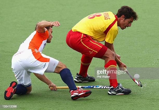 Alex Fabregas of Spain in action during the match between Great Britain and Korea on day five of the 2011 Men's Champions Trophy on December 10 2011...