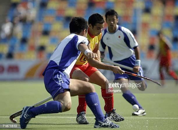 Alex Fabregas of spain in action during the World Cup Match between Japan and Spain at the Warsteiner Hockey Park on September 13 2006 in...