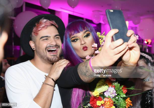 Alex Faction and Amuna Davis at the FACE Awards International Welcome Party at Andaz Hotel on August 16 2017 in Los Angeles California
