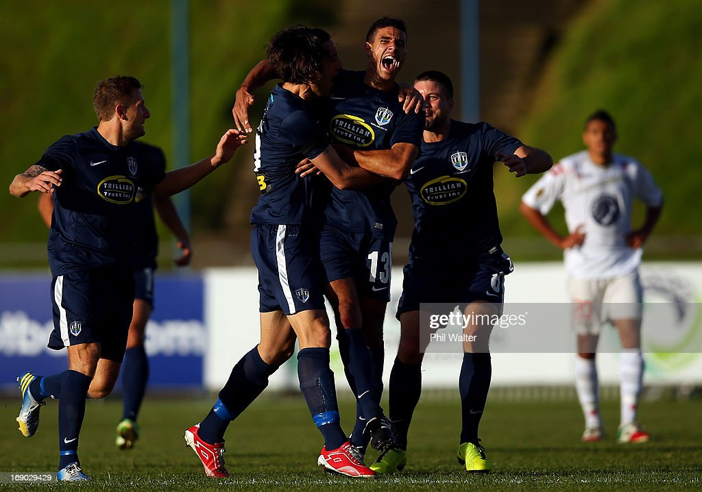 Alex Feneridis of Auckland City celebrates his goal during the OFC Champions League Final match between Auckland and Waitakere at Mt Smart Stadium on May 19, 2013 in Auckland, New Zealand.