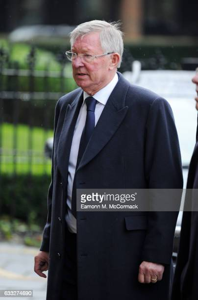 Alex Ferguson attends the funeral of former England football manager Graham Taylor at St Mary's Church on February 1 2017 in Watford England Graham...