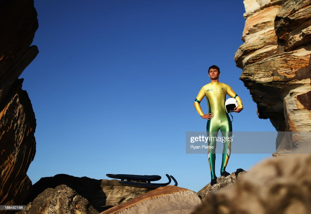 Alex Ferlazzo of Australia poses during a portrait session on May 10, 2013 in Sydney, Australia. Ferlazzo, from Townsville in Far North Queensland, is close to qualifying for the Australian Winter Olympic Team in the Luge event for the 2014 Sochi Winter Olympic Games.