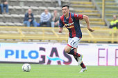 Alex Ferrari of Bologna FC in action during the Serie B match between Bologna FC and AC Spezia at Stadio Renato Dall'Ara on April 18 2015 in Bologna...