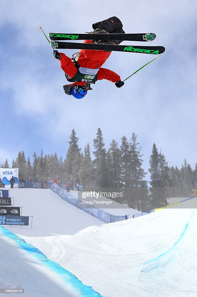 Alex Ferreira of the USA skis to sixth place in the finals of the FIS Freestyle Ski Half Pipe World Cup at the US Grand Prix on January 11, 2013 in Copper Mountain, Colorado.