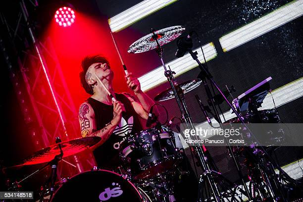 Alex Fiordispino of the Italian group The Kolors performs in concert at Atlantico Live Club on May 23 2016 in Rome Italy