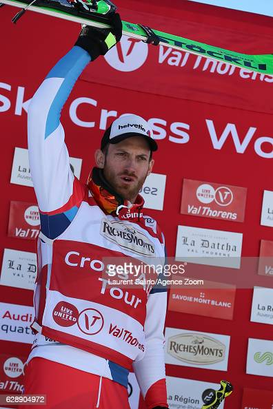 Alex Fiva of Switzerland takes 1st place during the FIS Freestyle Ski World Cup Men's and Women's Ski Cross on December 10 2016 in Val Thorens France