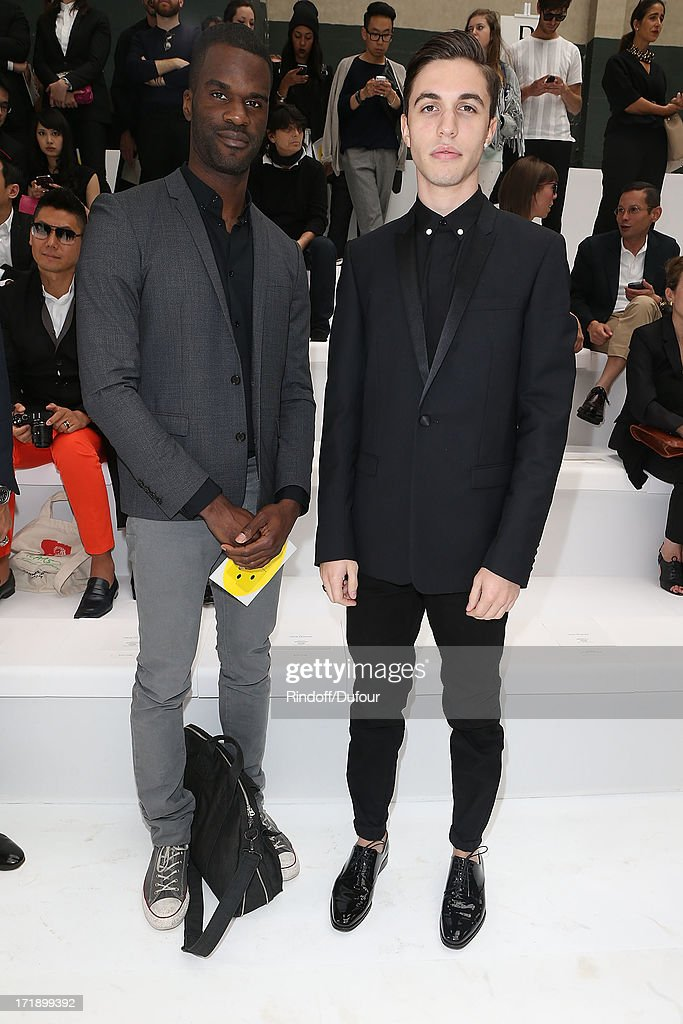 Alex Fleming aka Black Atlass (R) attend Dior Homme Menswear Spring/Summer 2014 Show As Part Of The Paris Fashion Week on June 29, 2013 in Paris, France.