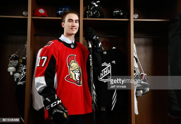 Alex Formenton 47th overall pick of the Ottawa Senators poses for a portrait during the 2017 NHL Draft at United Center on June 24 2017 in Chicago...