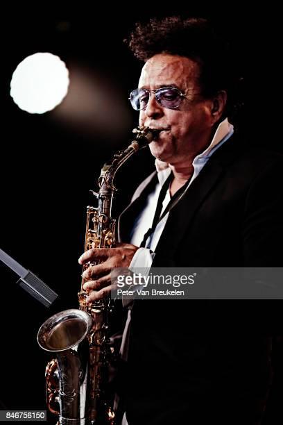 Alex Foster of Mingus Big Band Performs at Jazz Middelheim Festival on August 05 2017 in Antwerp Belgium