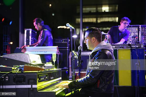 Alex Frankel and his band Holy Ghost perform at The Museum of Modern Art 2016 Armory Party at MOMA on March 2 2016 in New York City