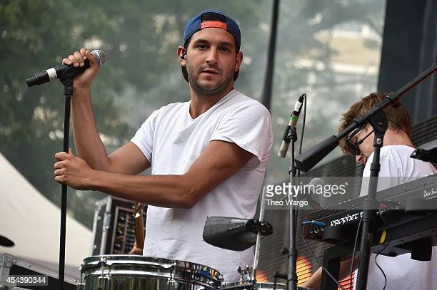 Alex Frankel of Holy Ghost performs onstage at the 2014 Budweiser Made In America Festival at Benjamin Franklin Parkway on August 30 2014 in...