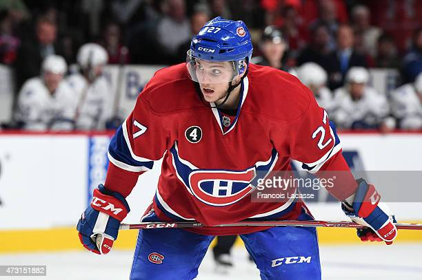 Alex Galchenyuk of the Montreal Canadiens during the game against the Tampa Bay Lightning in Game 2 of the Eastern Conference Semifinals during the...